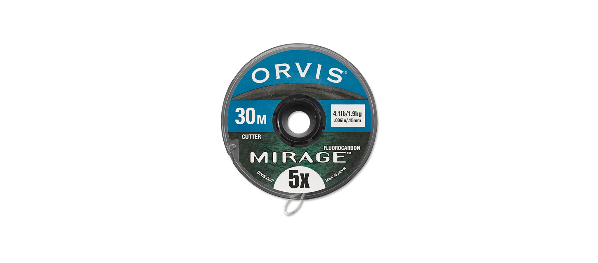 Orvis-Mirage-Fluorocarbon-Vorfachmaterial-Tippet-Spule