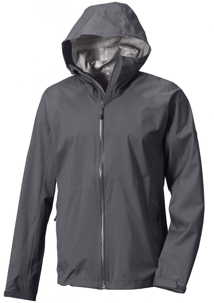 Das Ultralight Storm Jacket Men's Asphalt (Code 2ZM9) in klassischem Grau.