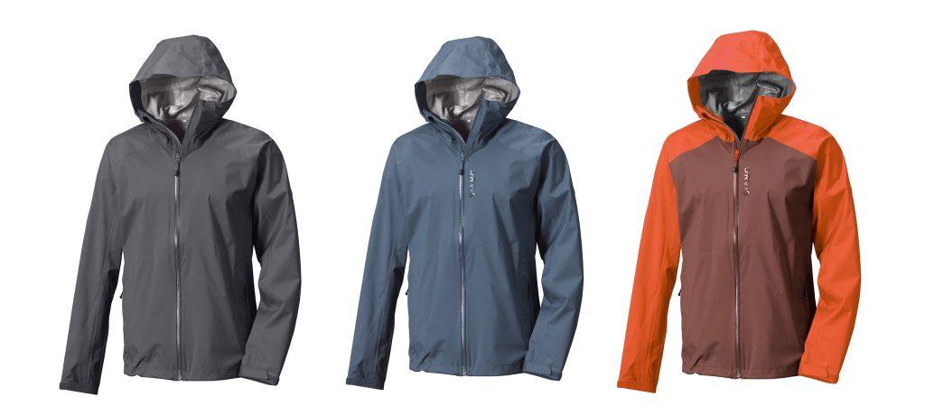 Die drei Farben der ORVIS Ultralight Storm Jacket.