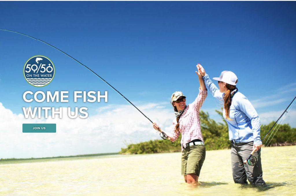 50/50 on the Water heißt eine Kampagne von ORVIS, die Frauen an das Fliegenfischen heranführen soll.